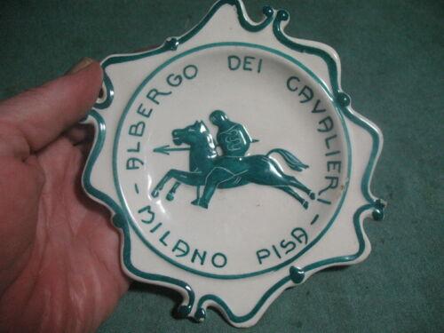 hotel albergo dei cavalieri milano pisa italy ash tray souvenir