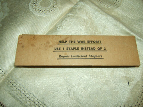 VINT 1940s WWII 1000 MARKWELL RF MASTER STAPLES-BOX SAYS