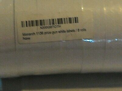 Labels For Monarch 1136 Price Gun White 8 Rolls-made In Usa