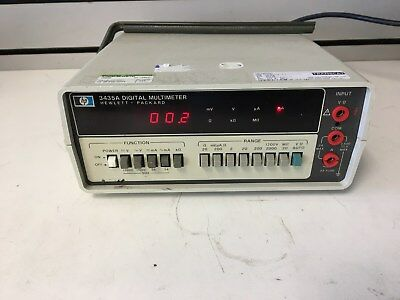 Hp 3435a Ddm Digital Benchtop 3.5 Digit Multimeter