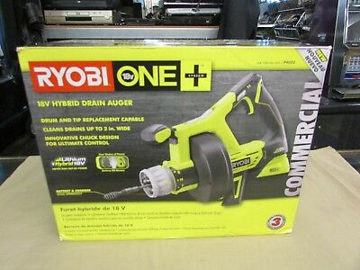 New Ryobi Drain Auger 18-volt Lithium-ion Cordless Rear Drain Port Tool Only