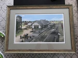 Caledonia Grand Trunk Station Lithograph Print