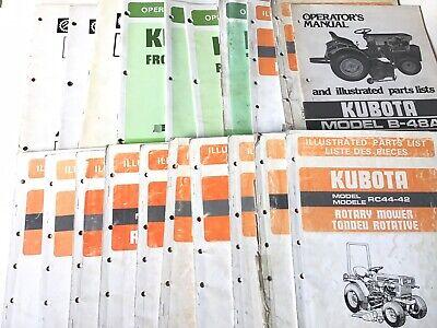 Vintage Kubota Wholesale Manual Lot Operators Owners Illustrated Parts 20 Books