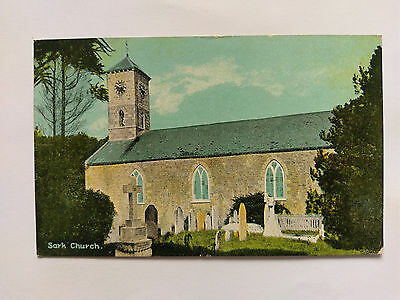 Sark Church Vintage colour postcard c1910