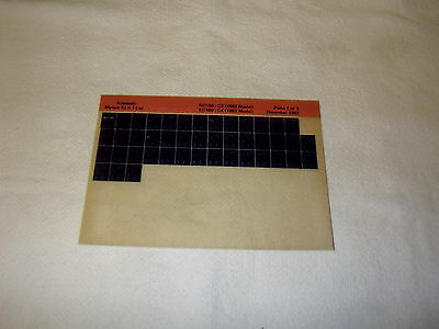 KAWASAKI KC100 KC 100 C3 (1982 MOD) C4 (1983 MOD) GEN PART CATALOGUE MICROFICHE
