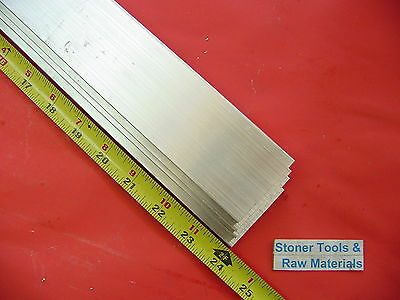 4 Pieces 18 X 2 Aluminum 6061 Flat Bar 24 Long .125 Plate New Mill Stock