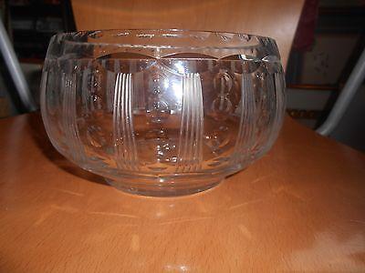 Edinburgh, cut crystal bowl