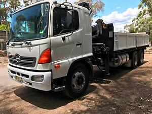 Hino Tipper with Hiab Sydney City Inner Sydney Preview