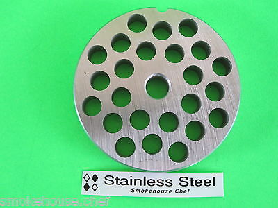 22 X 38 Meat Grinder Plate Die Stainless Steel Fits Adcraft Weston