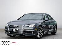 2017 Audi A4 2.0T Progressiv|One Owner|S-Line|Navi|Leather