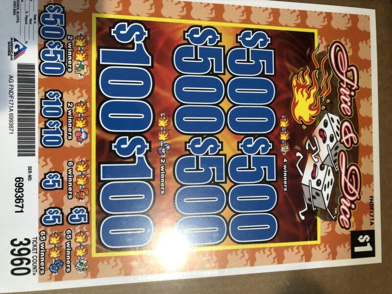Pull Tabs ( Fire & Dice ) Profit   $960