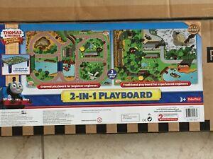 Fisher Price Thomas & Friends Wooden Railway 2 in 1 Playboard Real Wood NIB