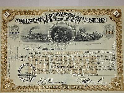 Delaware, Lackawanna & Western Railroad original stock certificate