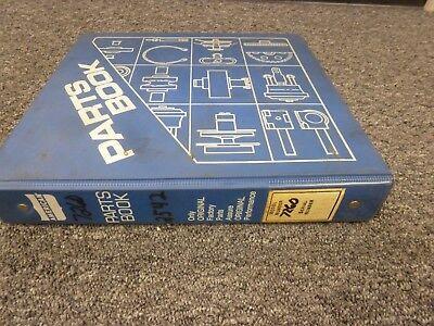 American Model 7260 Lattice Boom Crawler Crane Parts Catalog Manual Book