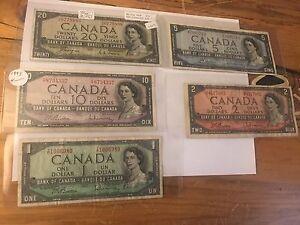 1954 bill set. Includes Devils face $20