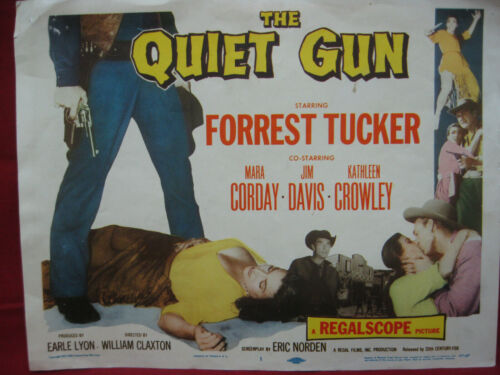 "Vintage ""The Quiet Gun"" Original 1957 Movie Lobby Card Poster"