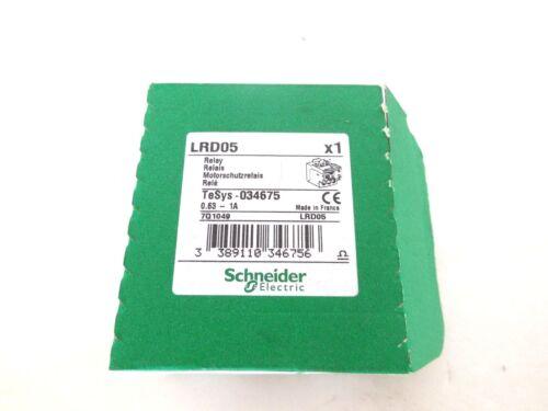 NEW SCHNEIDER ELECTRIC LRDO5 OVERLOAD RELAY