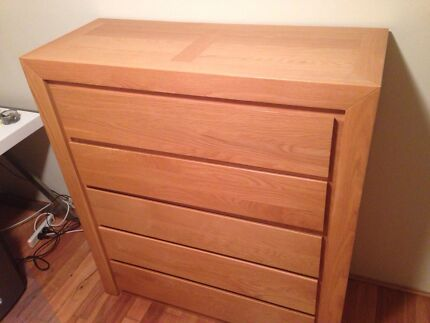 Solid oak drawers Neutral Bay North Sydney Area Preview