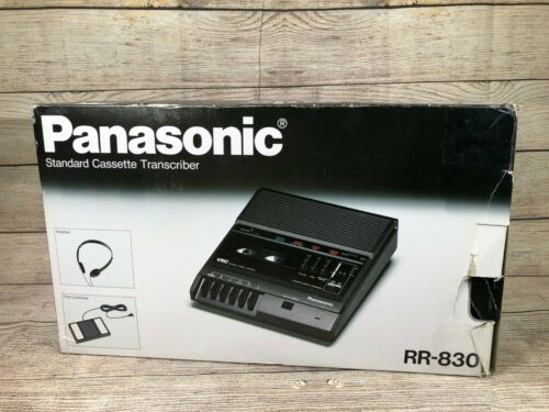 Panasonic RR-830 Standard Cassette Transcriber, RR-830 With Foot Controller Box