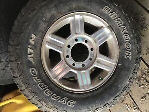 Dodge chrome rims with center caps 17 inch