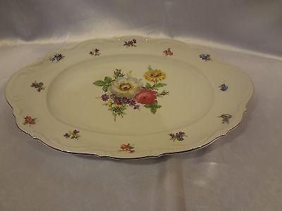 """Mitterteich Bavarian China - Meissen Floral -  15"""" Oval Platter"""
