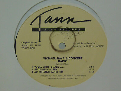 Michael Raye and Concept Radio 12 inch single Funky Downtown Mix Tann sealed
