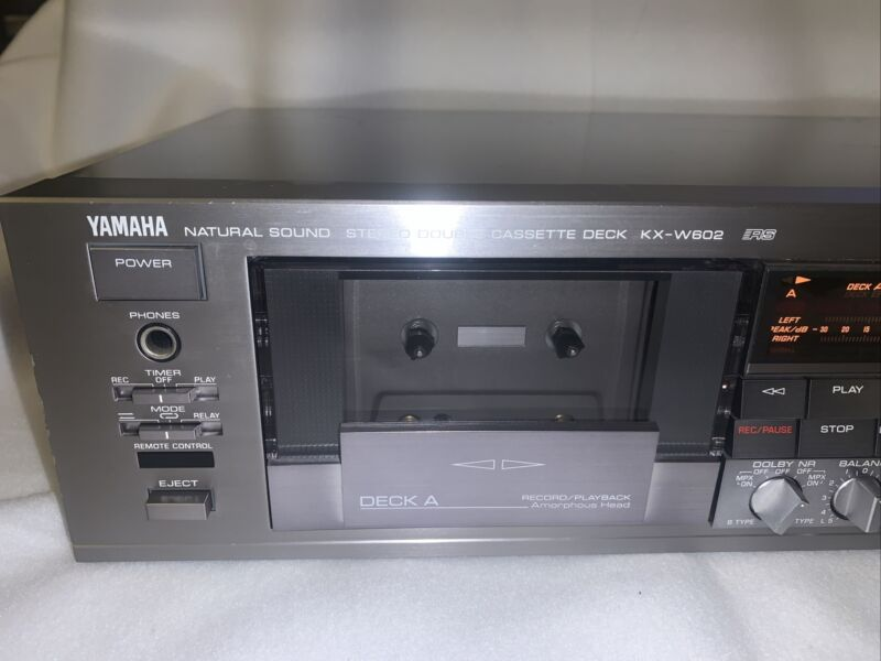 Yamaha KX-W602 Natural Sound Stereo Double Cassette Deck Silver Finish