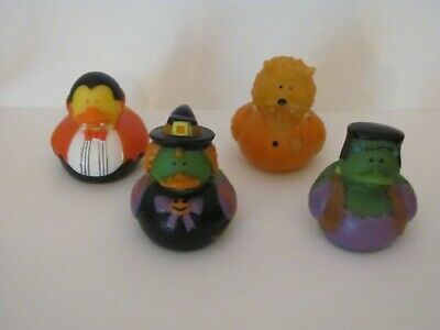 Halloween Rubber Duck (NEW LOT OF 12 HALLOWEEN COSTUME RUBBER DUCKS (3 OF EACH DESIGN) ~ APPROX.)