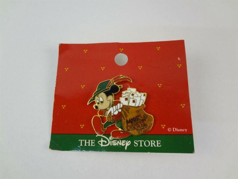 The Disney Store Merry Christmas 1993 Mickey Mouse Mailman Souvenir Pin