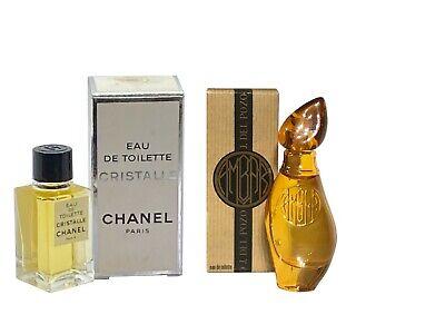 Ladies Miniature Perfume Travel x2 CHANEL Cristalle 4.5ml EDT Del Pozo Ambar