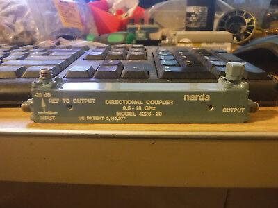 Narda Directional Coupler 0.5-18ghz Model 4226-20 20db Coupler 5