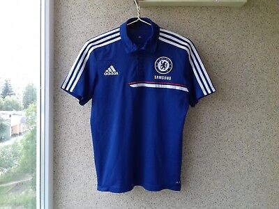 Chelsea London 2013 2014 Football shirt Adidas Polo England Soccer Camiseta 04ee5399dc992