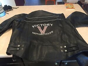 Xxl Victory Leather Motorcycle Jacket