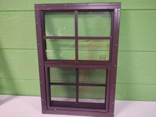 Shed Window 14 x 21 with 4 x 4 grid --Flush or J-lap , Brown or White