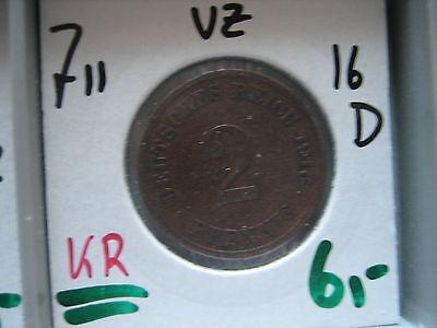 J 11   2 Pfennig  1916 D in VZ