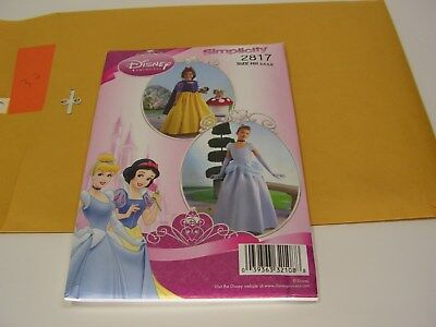 Simplicity Disney Princess Sewing Pattern #2817 Size 3-6 Girls Uncut Halloween ](Plus Size Disney Princess Halloween Costumes)