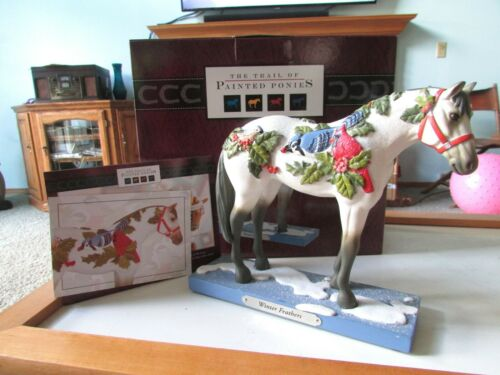 Winter Feathers Holiday Horse Figurine Trail of Painted Ponies 1E/0862 NIB!