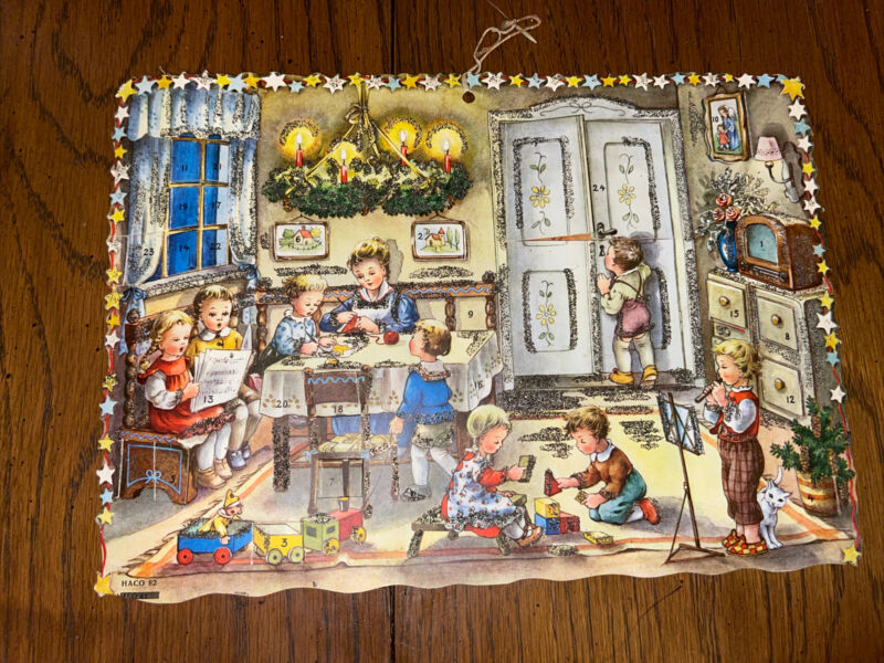 Vintage Haco 82 Christmas Advent Calendar West Germany  Hanging