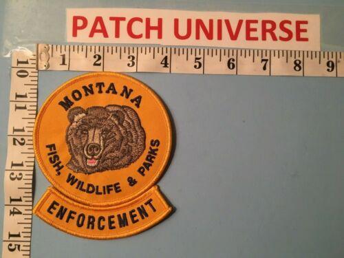 MONTANA  FISH WILDLIFE AND PARKS ENFORCEMENT SHOULDER  PATCH  J015