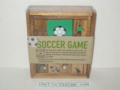 Siam Mandalay Wooden Soccer Game Slide Puzzle BRAND NEW,