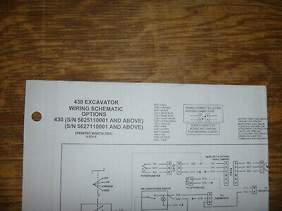 Bobcat 430 Excavator Electrical Wiring Diagram Schematic Manual 5625110001