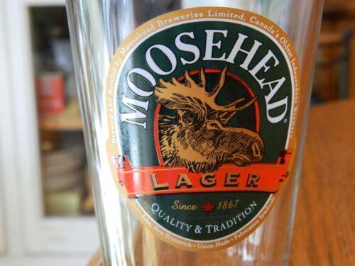 Moosehead Canadian Lager Pint Beer Glass
