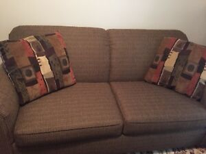 Pullout couch.