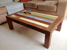 Recycled hardwood coffee table Morningside Brisbane South East Preview
