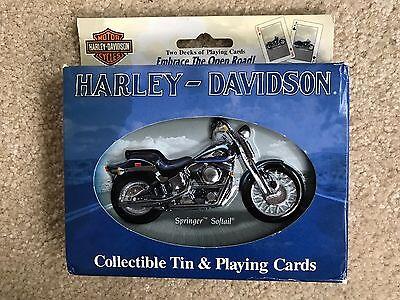 * NIB - 2001 Harley Davidson Collectible Tin & Playing Cards 2 Decks