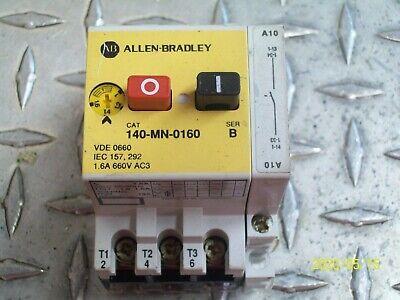 Allen Bradley 140-MN-0160 Manual Starter 1.0 to 1.6 Amp W/ 140-A10 FREE SHIPPING
