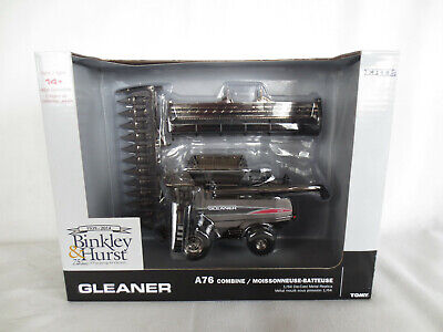 ERTL 1/64 SCALE AGCO GLEANER A76 COMBINE FARM TOY BLACK CHROME CHASER