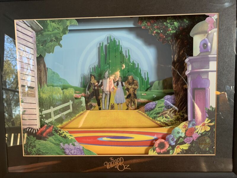 """Wizard Of Oz Animated Picture RARE! Works 100%! """"ANIMATED ANIMATIONS"""""""