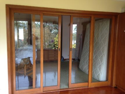 Interior wooden sliding glass doors and frames Freshwater Manly Area Preview