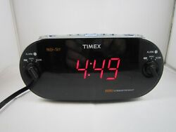 Timex XBBU Redi-Set Dual Alarm Clock Radio AM/FM Large Digital Display No. T715